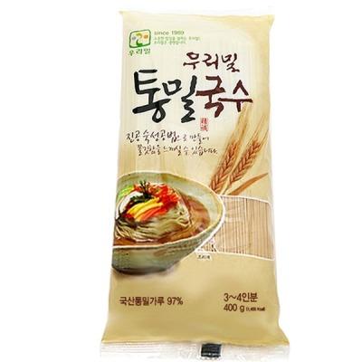 우리밀 통밀국수 (400gx1개) 백밀국수 쌀소면