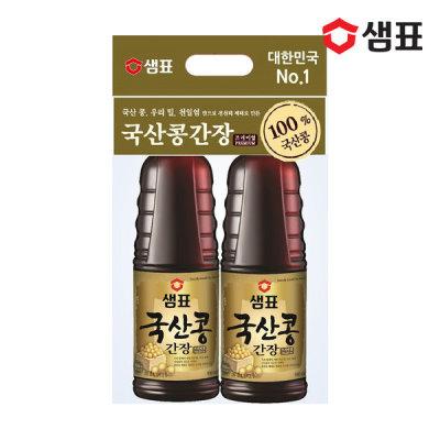 샘표 국산콩간장 930ml 2팩 기획