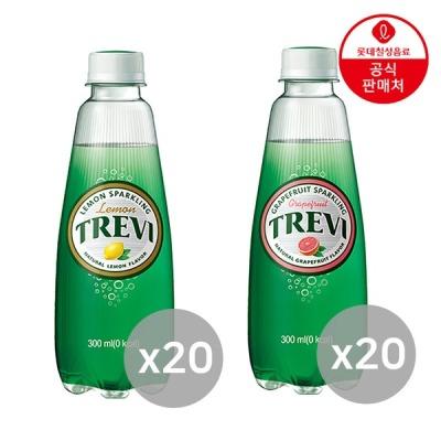 트레비 트레비 레몬 300ml 20펫+자몽 300ml 20펫