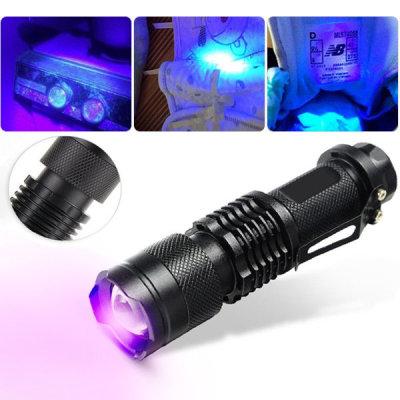 플래시 라이트 손전등 자외선 UV 후레쉬395nm (퍼플)