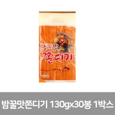 에코푸드 밤꿀맛 쫀디기 130g x 30봉  (1박스)