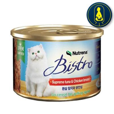 비스트로 비스트로캔 흰살참치와닭안심 160g x 24개 고양이캔