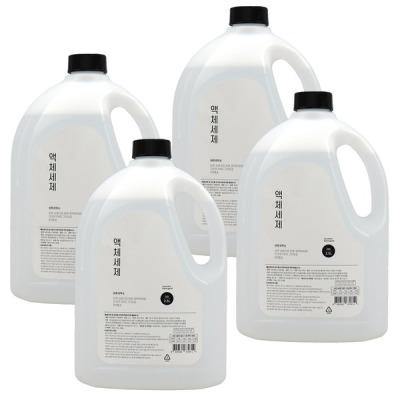 케이지커머스 바른세탁소 액체세제 라임향 2.5L x 4개 세탁세제