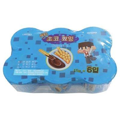무배 도티 초코 뾰잉 (15g x 6개) 스틱 막대 과자 90g