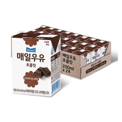 매일유업 매일우유 초콜릿 멸균 200ml 24팩