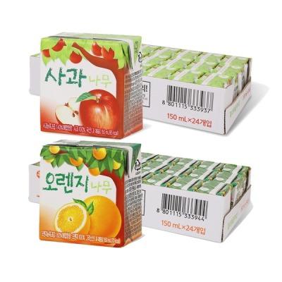 서울우유 사과나무/오렌지나무 150ml 24입+24입 (2박스)